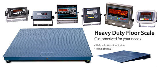 slide floor scales