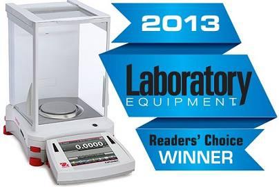 OhausLaboratoryEquipmentReaderChoiceAward2013